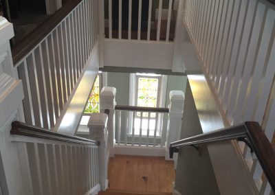 Residential staircase and walls stain and paint job